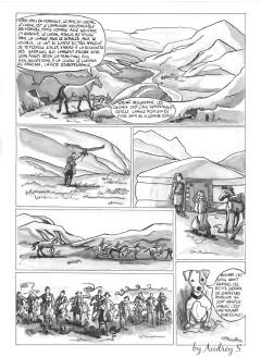 Qalo et Lolotte en Mongolie, la bande dessinée
