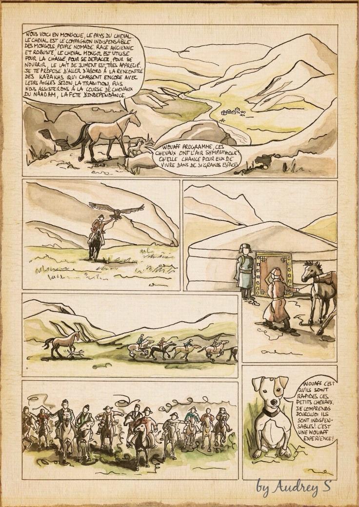 Qalo et Lolotte, Mongolie, La bande dessinée