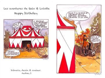 Qalo et Lolotte - Carte d'anniversaire - Recto